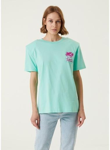 Etro Etro Turkuaz Bisiklet Yaka Logolu T-shirt 101618492 Turkuaz